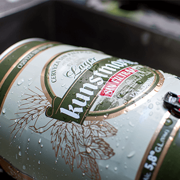 New 5-liter barrel: We have enlarged possibilities to share delicious unfiltered Lager